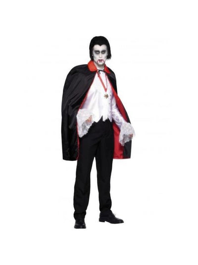 Black and Red Reversible Cape-Costume Accessories-Jokers Costume Hire and Sales Mega Store