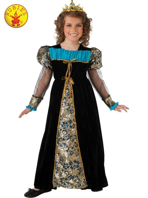 Black Camelot Princess - Size M-Costumes - Girls-Jokers Costume Hire and Sales Mega Store