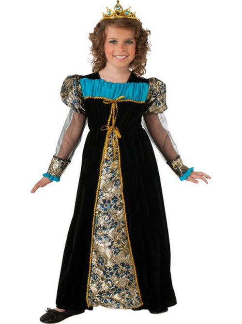 Black Camelot Princess - Size S-Costumes - Girls-Jokers Costume Hire and Sales Mega Store