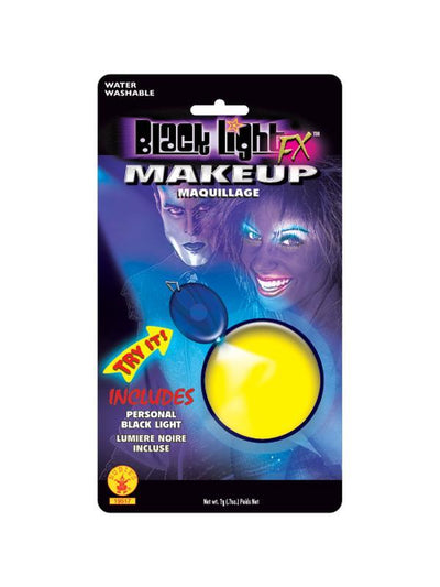 Black Light Fx Yellow Glow Makeup-Make up and Special FX-Jokers Costume Hire and Sales Mega Store
