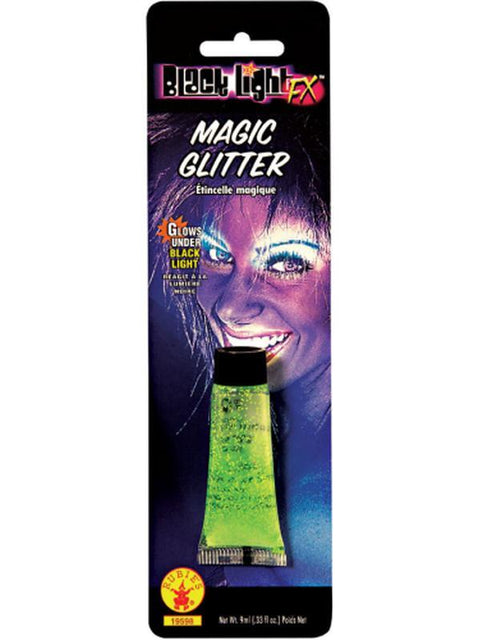 Black Lite Green Glitter-Make up and Special FX-Jokers Costume Hire and Sales Mega Store