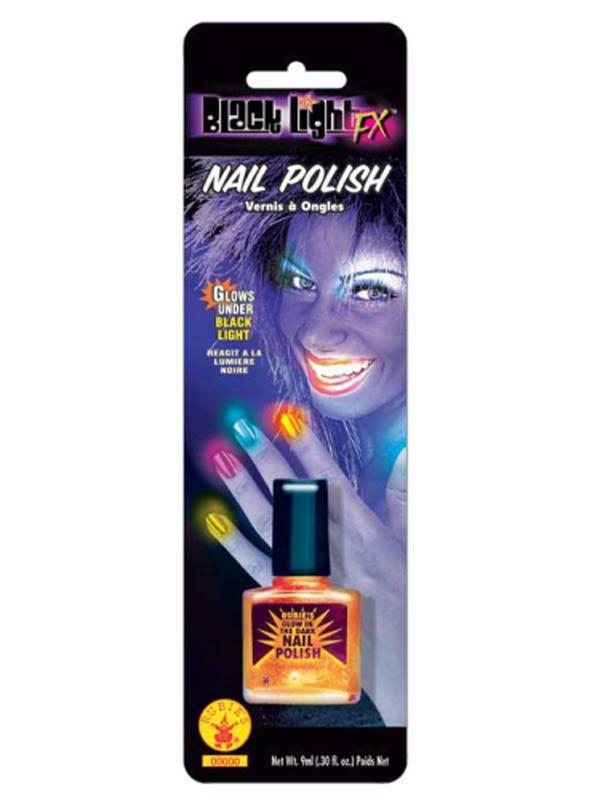 Black Lite Mail Varnish Orange-Jokers Costume Mega Store
