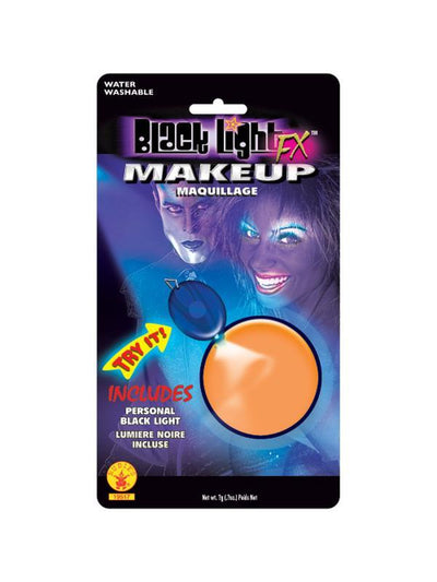 Black Lite Orange Make Up-Halloween Makeup & Special FX-Jokers Costume Hire and Sales Mega Store