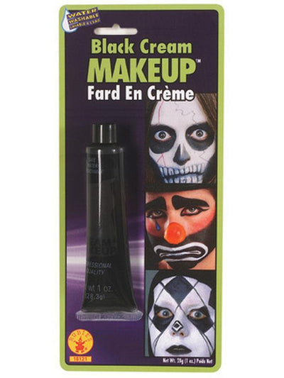 Black Make Up Cream-Halloween Makeup & Special FX-Jokers Costume Hire and Sales Mega Store