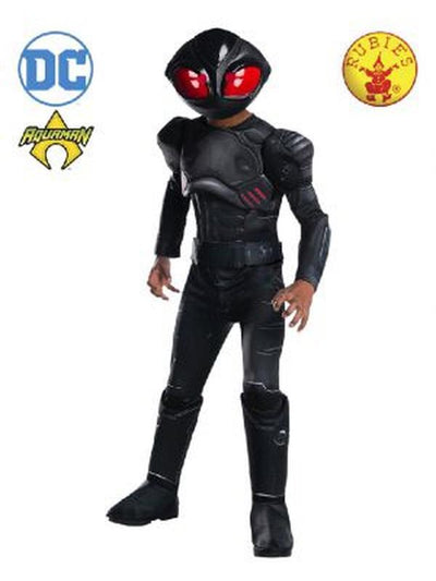 BLACK MANTA DELUXE COSTUME, CHILD-Costumes - Boys-Jokers Costume Hire and Sales Mega Store