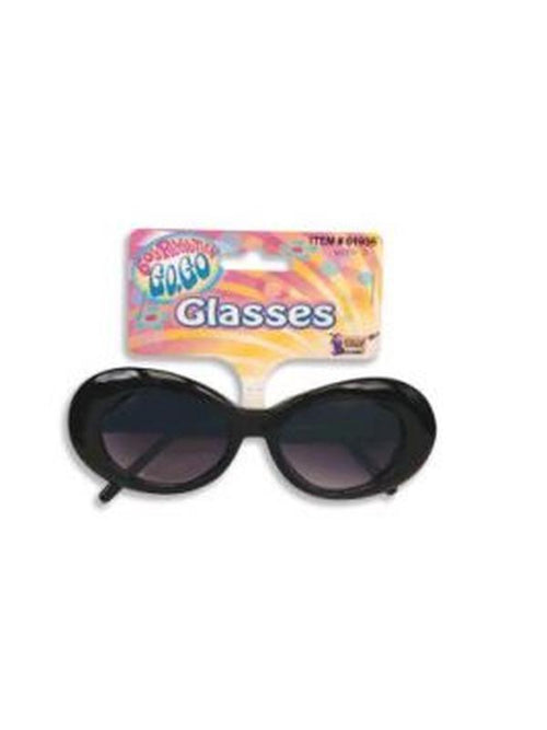Black Mod Tinted Glasses-Eyewear-Jokers Costume Hire and Sales Mega Store