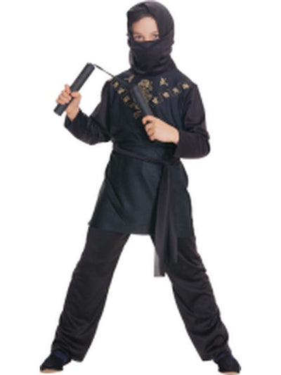Black Ninja - Size S-Costumes - Boys-Jokers Costume Hire and Sales Mega Store