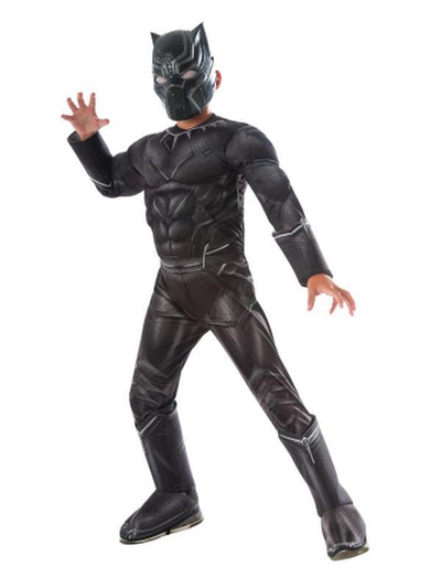 Black Panther Cw Deluxe Child - Size M-Costumes - Boys-Jokers Costume Hire and Sales Mega Store