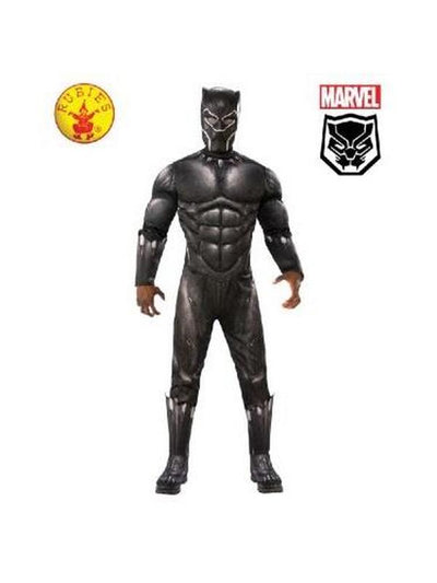 BLACK PANTHER DELUXE COSTUME, ADULT-Costumes - Mens-Jokers Costume Hire and Sales Mega Store