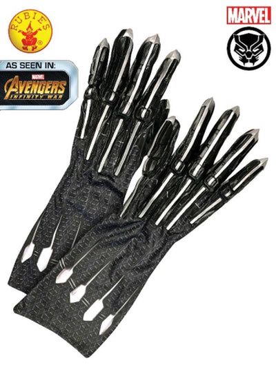 BLACK PANTHER GLOVES, ADULT-Armwear-Jokers Costume Hire and Sales Mega Store