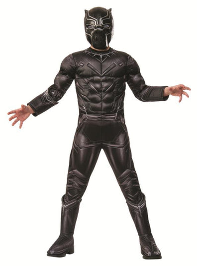 Black Panther Premium Costume - Size 6-8-Costumes - Boys-Jokers Costume Hire and Sales Mega Store