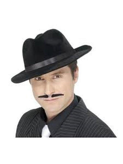Black Spiv Tash-Beards and Moustaches-Jokers Costume Mega Store
