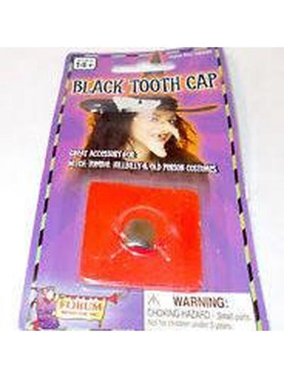 Black Tooth Cap-Teeth-Jokers Costume Hire and Sales Mega Store