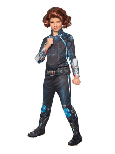 Black Widow Deluxe - Size L-Costumes - Girls-Jokers Costume Hire and Sales Mega Store