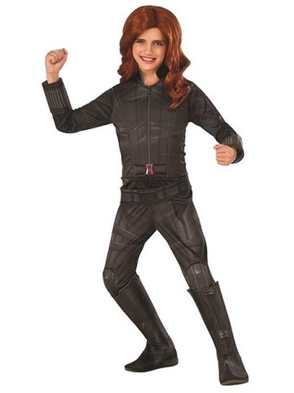 Black Widow Deluxe - Size M-Costumes - Girls-Jokers Costume Hire and Sales Mega Store