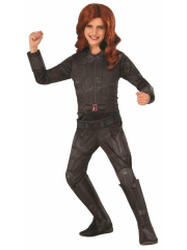 Black Widow Deluxe - Size S-Costumes - Girls-Jokers Costume Hire and Sales Mega Store