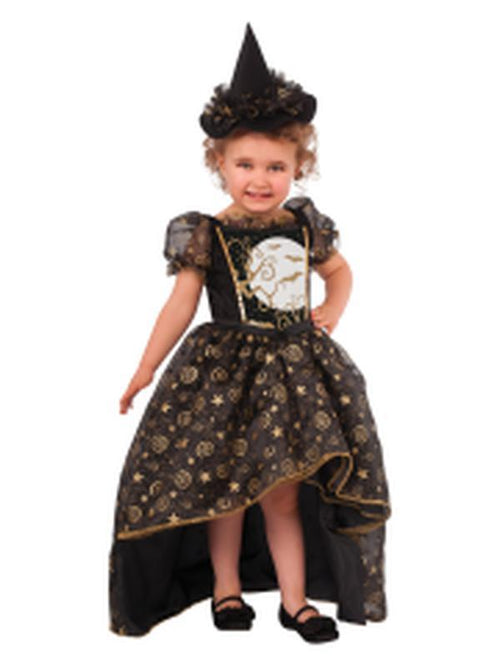 Black Witch - Size M-Costumes - Girls-Jokers Costume Hire and Sales Mega Store