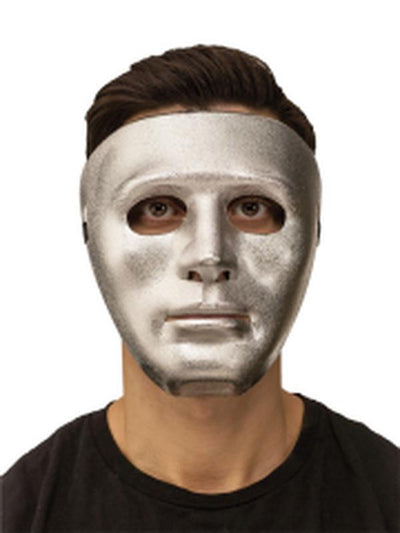 Blank Mask - Silver-Masks - Basic-Jokers Costume Hire and Sales Mega Store