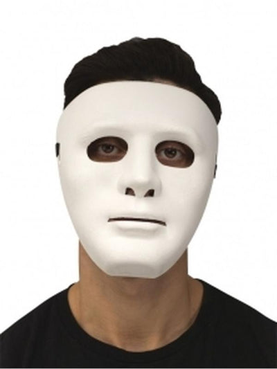 Blank Mask - White.-Masks - Masquerade-Jokers Costume Hire and Sales Mega Store