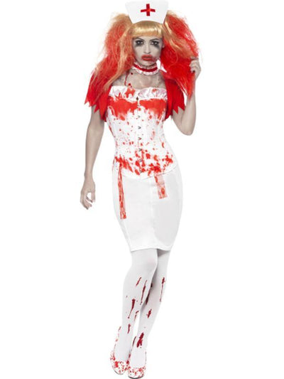 Blood Drip Nurse Costume-Costumes - Women-Jokers Costume Hire and Sales Mega Store