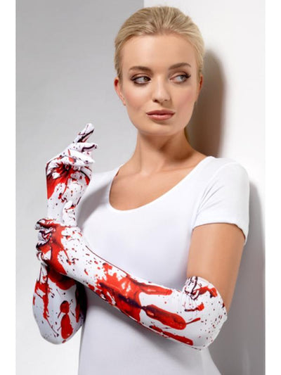 Blood Splatter Gloves-Armwear-Jokers Costume Hire and Sales Mega Store