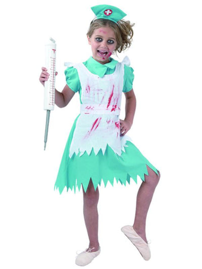 Blood Splattered Nurse - Child - Medium-Costumes - Girls-Jokers Costume Hire and Sales Mega Store