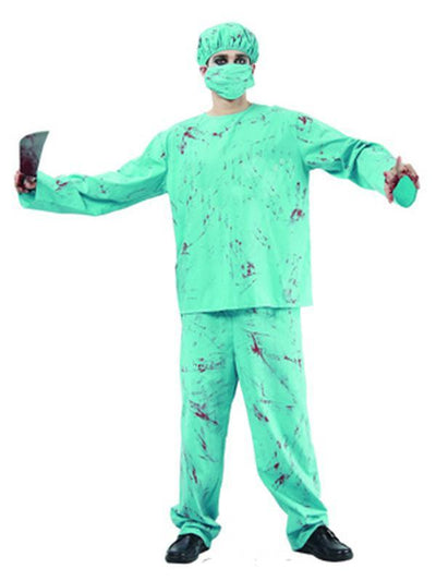 Blood Splattered Surgeon - Adult - Med-Costumes - Mens-Jokers Costume Hire and Sales Mega Store