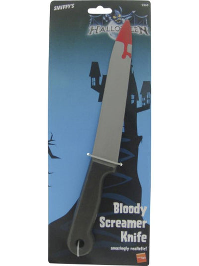 Blood Stained Screamer Knife-Jokers Costume Mega Store