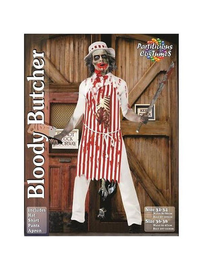 Bloody Butcher Zombie-Costumes - Mens-Jokers Costume Hire and Sales Mega Store