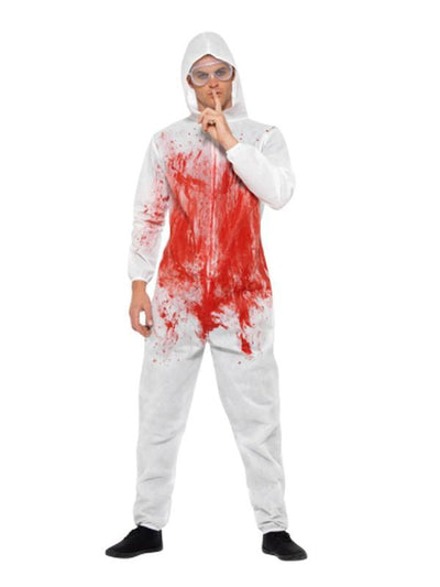 Bloody Forensic Overall Costume-Costumes - Mens-Jokers Costume Hire and Sales Mega Store