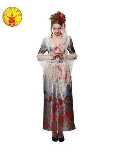 BLOODY HANDS DRESS - SIZE S-Costumes - Women-Jokers Costume Hire and Sales Mega Store
