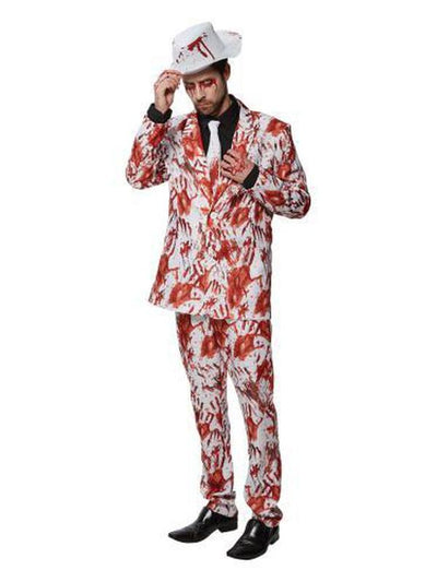 BLOODY HANDS SUIT - SIZE STD-Costumes - Mens-Jokers Costume Hire and Sales Mega Store