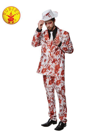 BLOODY HANDS SUIT - SIZE XL-Costumes - Mens-Jokers Costume Hire and Sales Mega Store