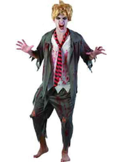 Bloody High School Boy - Adult - Medium-Costumes - Mens-Jokers Costume Hire and Sales Mega Store