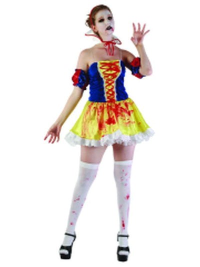 Bloody Snow Princess - Adult - Large-Costumes - Women-Jokers Costume Hire and Sales Mega Store