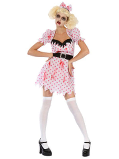 Bloody Zombie Girl - Adult - Medium-Costumes - Women-Jokers Costume Hire and Sales Mega Store