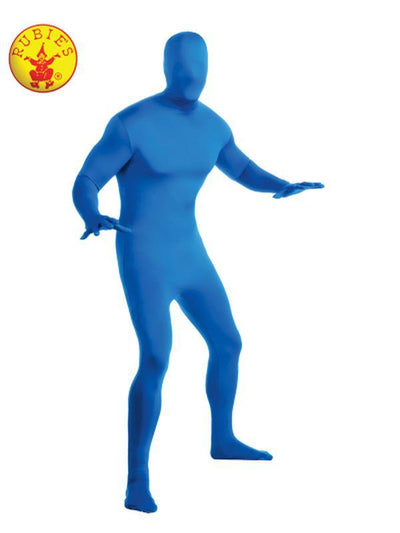 BLUE 2ND SKIN SUIT - SIZE L-Costumes - Mens-Jokers Costume Hire and Sales Mega Store