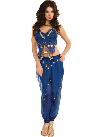 Blue Belly Dancer Costume - Size S-Costumes - Women-Jokers Costume Hire and Sales Mega Store