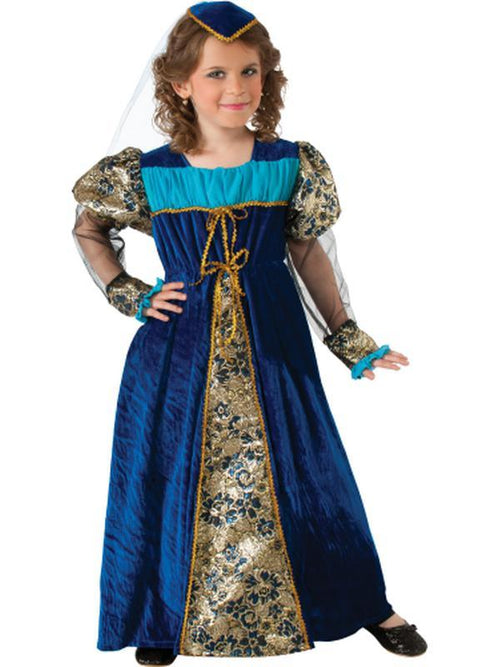 Blue Camelot Princess - Size L-Costumes - Girls-Jokers Costume Hire and Sales Mega Store