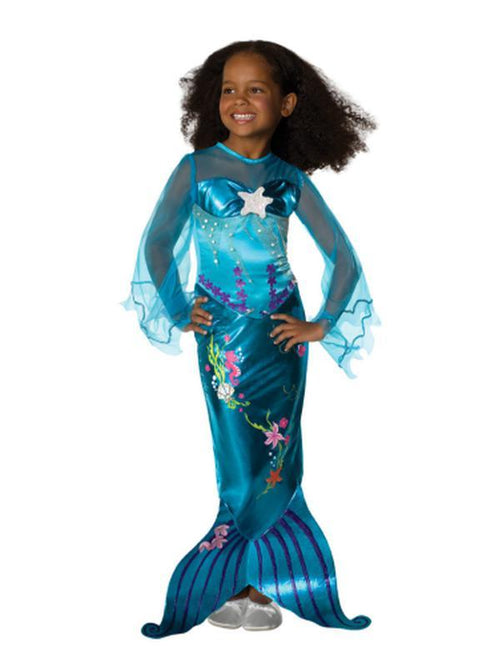 Blue Magical Mermaid - Size M-Costumes - Girls-Jokers Costume Hire and Sales Mega Store