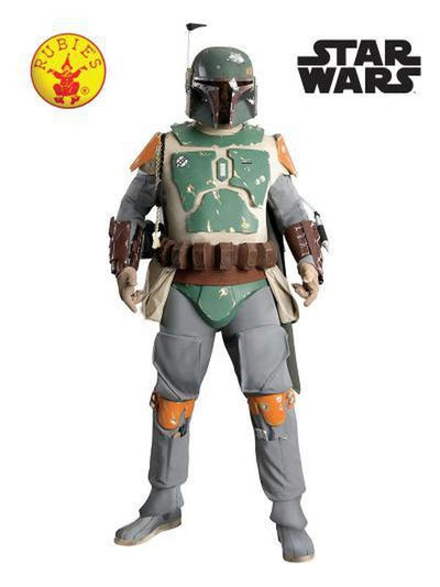 BOBA FETT COLLECTOR'S EDITION - SIZE STD-Costumes - Mens-Jokers Costume Hire and Sales Mega Store