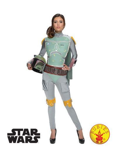 BOBA FETT FEMALE COSTUME - SIZE S-Costumes - Women-Jokers Costume Hire and Sales Mega Store