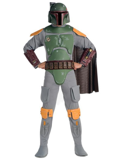 Boba Fett Star Wars Deluxe Adult - Size Std-Costumes - Mens-Jokers Costume Hire and Sales Mega Store