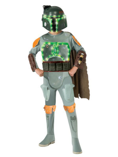 Boba Fett Star Wars Deluxe Light-Up Child -Size S-Costumes - Boys-Jokers Costume Hire and Sales Mega Store