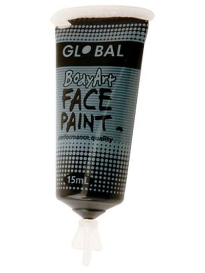 Body Art 15ml Tube - BLACK-Make-up - Global Body Art-Jokers Costume Hire and Sales Mega Store