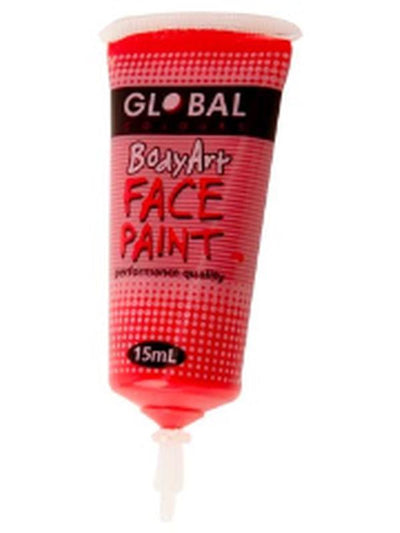 Body Art 15ml Tube - BRILLIANT RED-Make-up - Global Body Art-Jokers Costume Hire and Sales Mega Store
