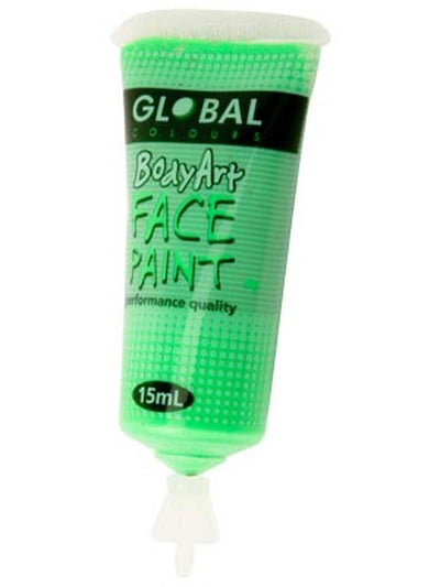 Body Art 15ml Tube - FLUORO GREEN-Make-up - Global Body Art-Jokers Costume Hire and Sales Mega Store