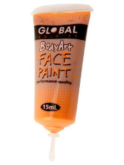 Body Art 15ml Tube - ORANGE.-Make-up - Global Body Art-Jokers Costume Hire and Sales Mega Store
