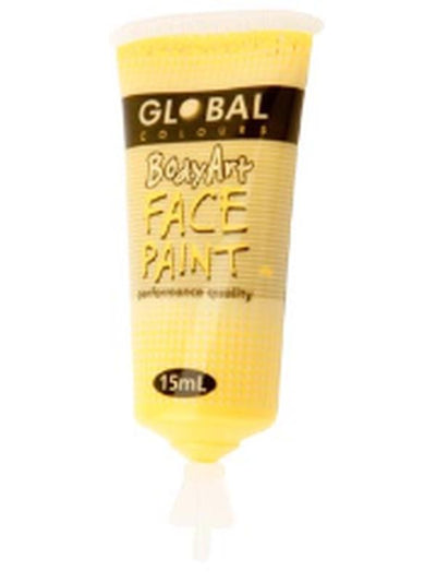 Body Art 15ml Tube - YELLOW.-Make-up - Global Body Art-Jokers Costume Hire and Sales Mega Store