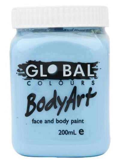 Body Art 200ml Jar - LIGHT BLUE-Make-up - Global Body Art-Jokers Costume Hire and Sales Mega Store